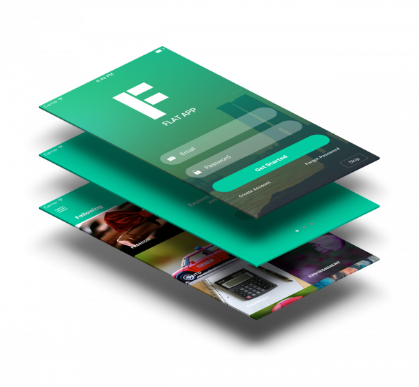 Vue Native Flat App Theme